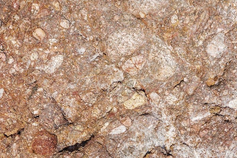 Камни текстура и предпосылка утеса красные и коричневые текстуры моря стоковое фото