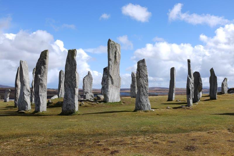 Камни Callanish стоящие. стоковая фотография