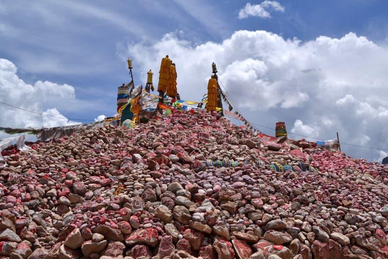 Камни Marnyi провинциального города Nangqian стоковая фотография rf