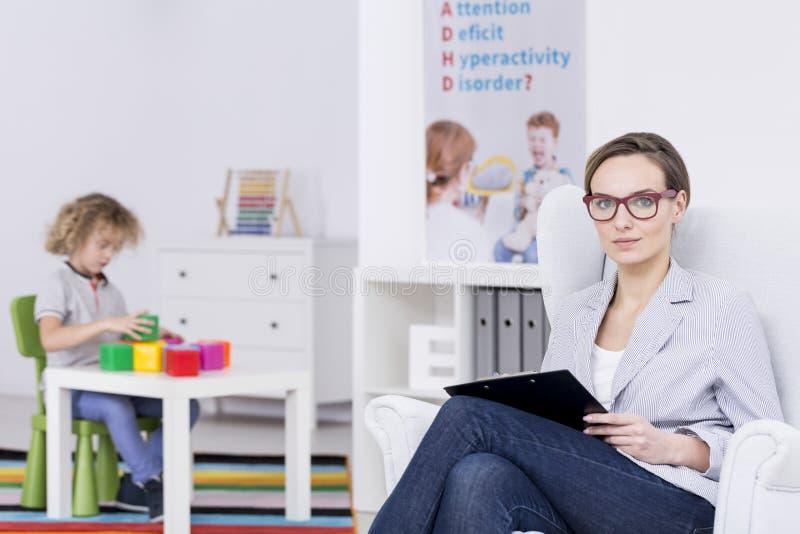 Кампания общественного знания ADHD стоковые изображения rf