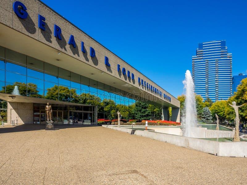 Кампус музея Джеральда r Форда президентский стоковое фото