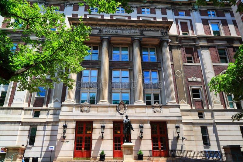 Кампус Нью-Йорка Колумбийского университета стоковое изображение