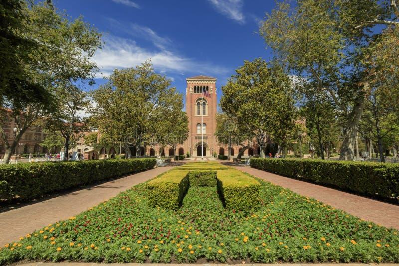 Кампус Университета Южной Калифорнии стоковые фото