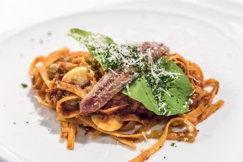 Камса спагетти стоковая фотография