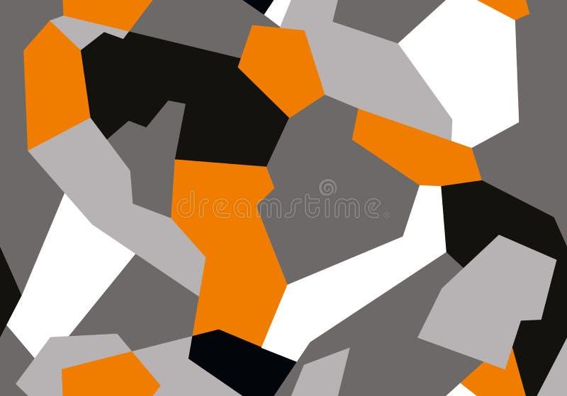 Камуфлирование конспекта геометрическое безшовное военное покрывает картину иллюстрация вектора