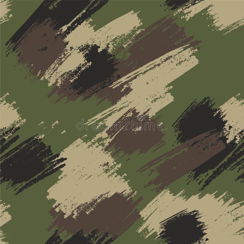 Камуфляж-грюнж-зеленый бесшовный узор стоковые фото