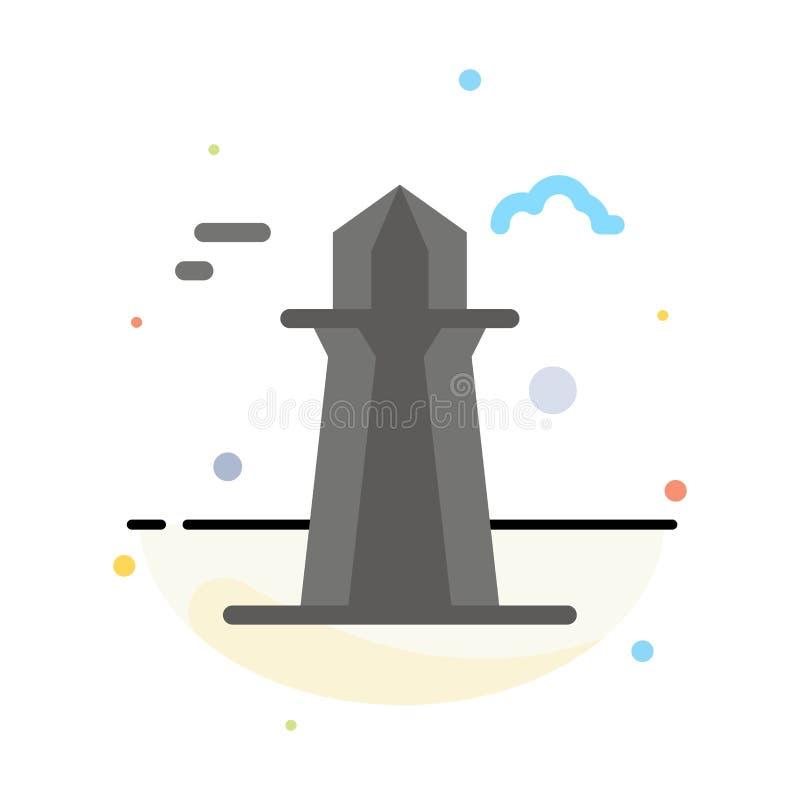 Канада, башня Co, башня Канады, строя абстрактный плоский шаблон значка цвета иллюстрация штока
