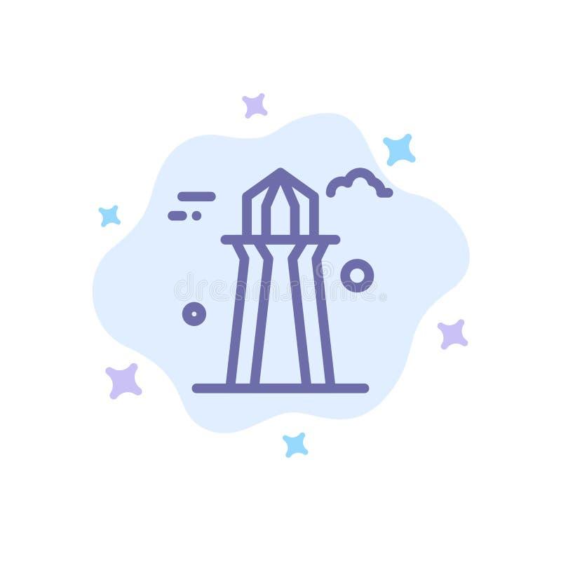 Канада, башня Co, башня Канады, строя голубой значок на абстрактной предпосылке облака иллюстрация вектора