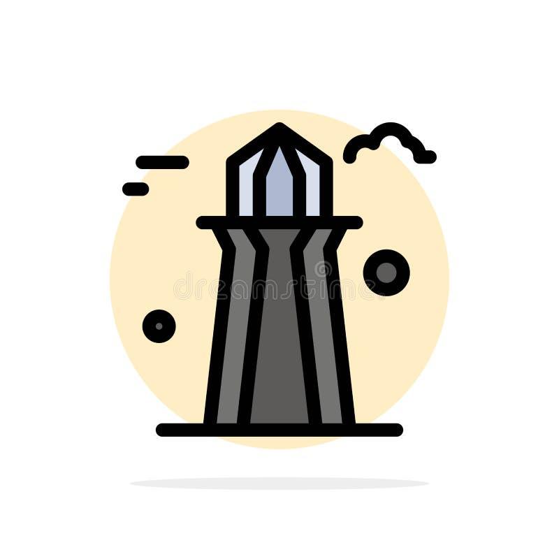 Канада, башня Co, башня Канады, строя значок цвета абстрактной предпосылки круга плоский иллюстрация штока