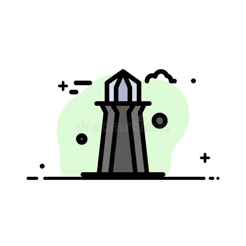 Канада, башня Co, башня Канады, строя линия заполненный шаблон дела плоская знамени вектора значка иллюстрация вектора