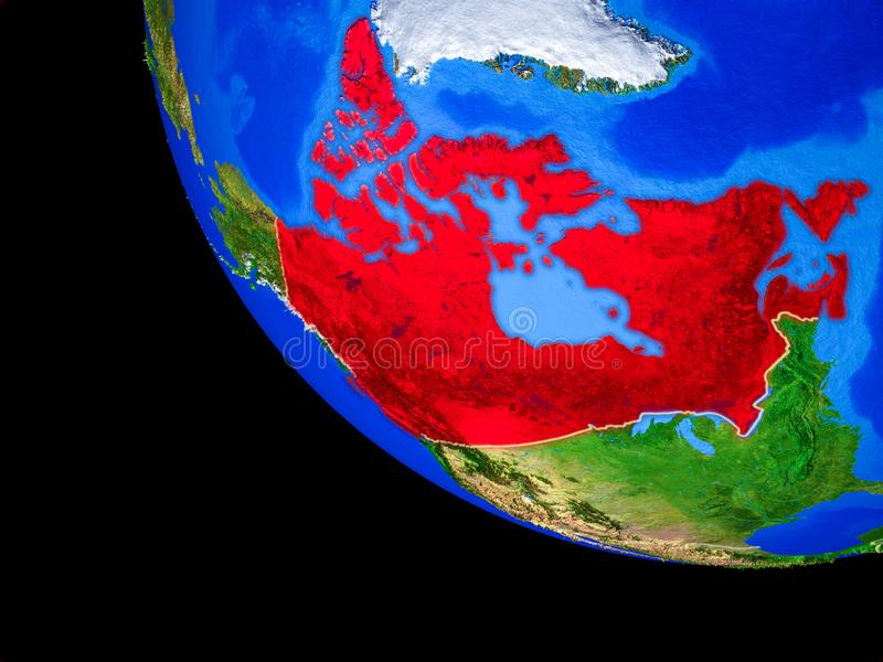 Канада на земле от космоса бесплатная иллюстрация