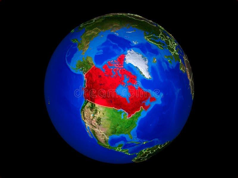Канада на земле от космоса иллюстрация вектора