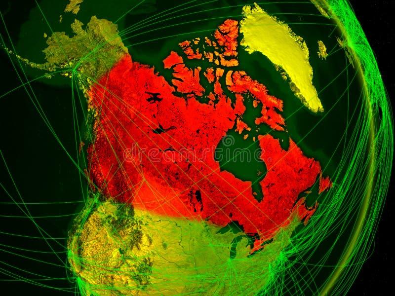 Канада на цифровой земле бесплатная иллюстрация