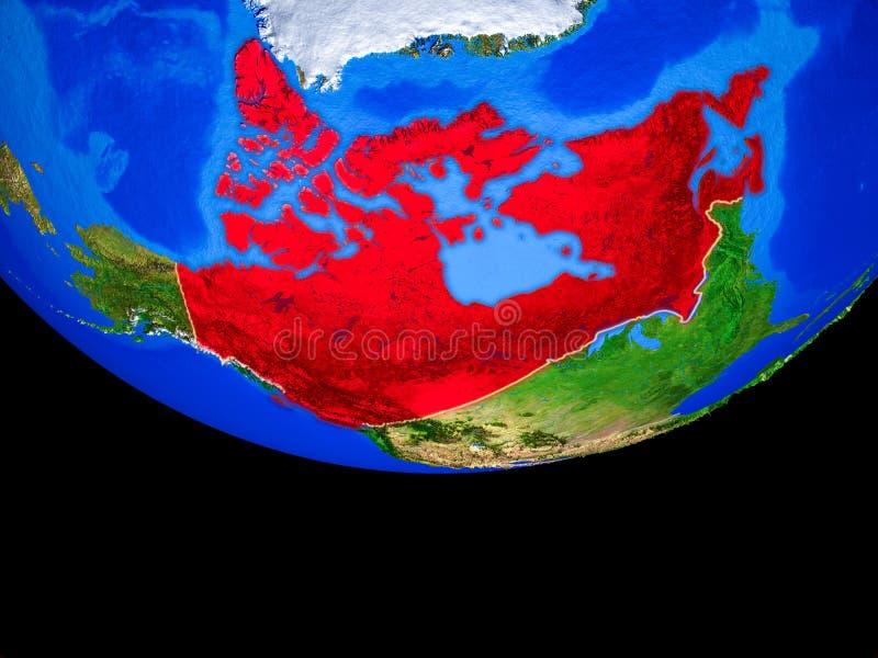 Канада от космоса на земле иллюстрация штока