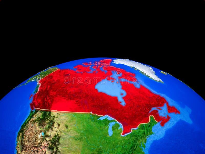 Канада от космоса на земле иллюстрация вектора