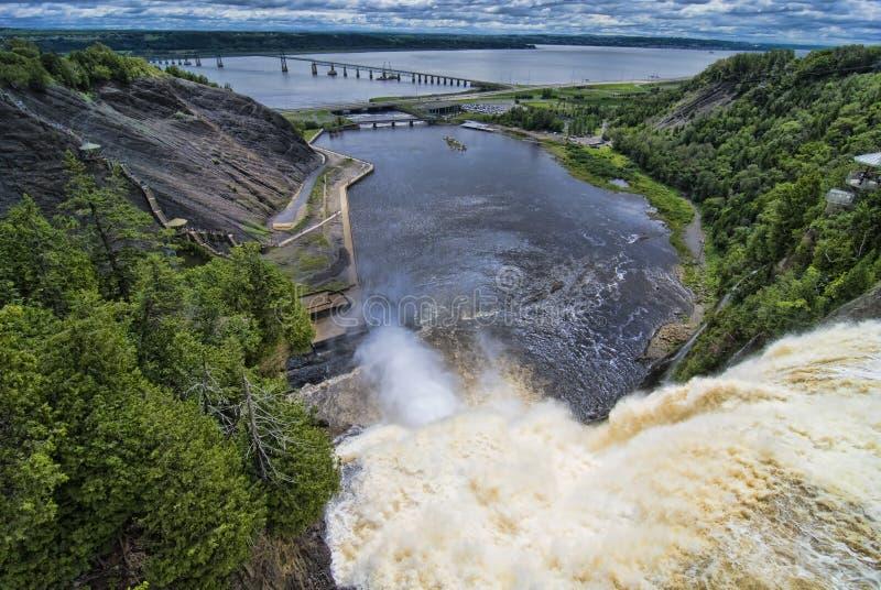 Канада падает montmorency Квебек стоковые изображения rf