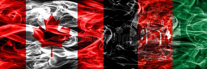 Канада против дыма Афганистана сигнализирует помещенную сторону - мимо - сторона канадско бесплатная иллюстрация