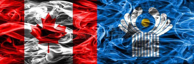 Канада против дыма государства сигнализирует помещенную сторону - мимо - сторона канадско иллюстрация штока