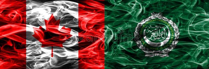 Канада против дыма Лиги арабских государств сигнализирует помещенную сторону - мимо - сторона канадско иллюстрация штока
