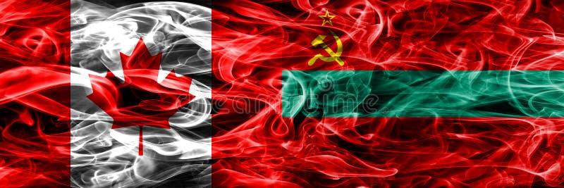 Канада против дыма Приднестровье сигнализирует помещенную сторону - мимо - сторона канадско иллюстрация вектора