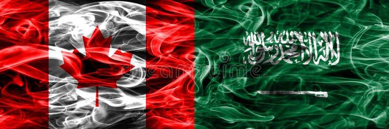Канада против дыма Саудовской Аравии сигнализирует помещенную сторону - мимо - сторона канадско иллюстрация штока