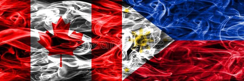 Канада против дыма Филиппин сигнализирует помещенную сторону - мимо - сторона канадско иллюстрация штока