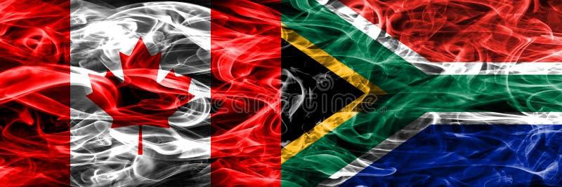 Канада против дыма Южной Африки сигнализирует помещенную сторону - мимо - сторона канадско иллюстрация штока