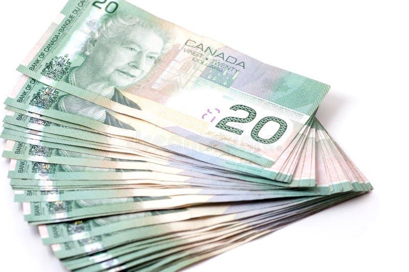 Канада 20 долларов счетов стоковое изображение