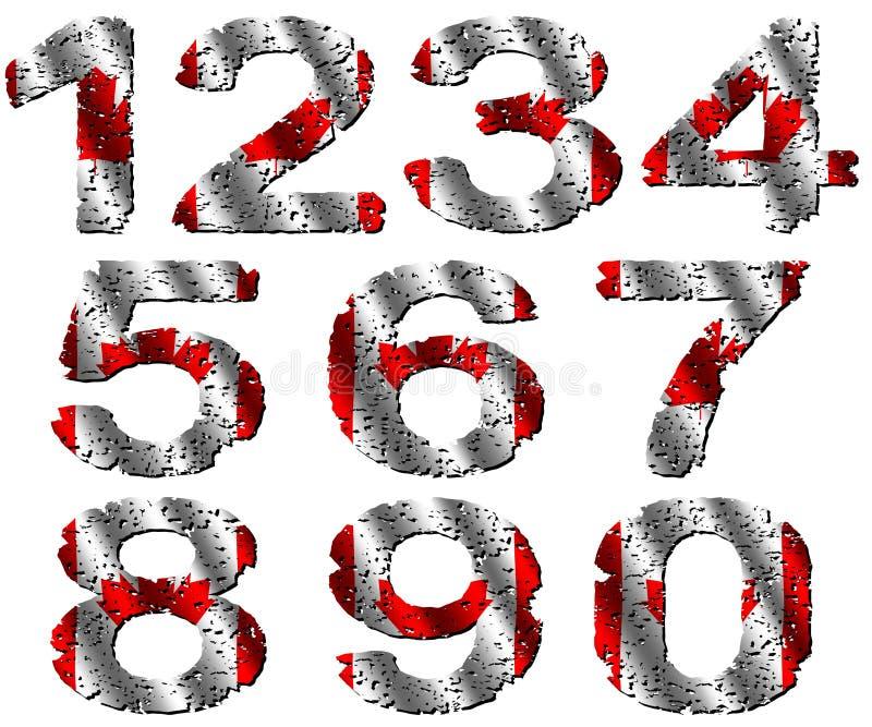 канадские номера grunge флага иллюстрация вектора