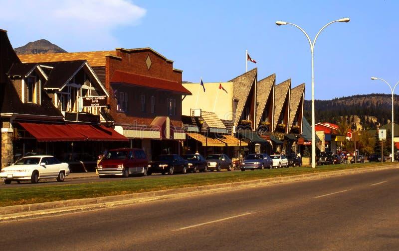 канадский городок яшмы стоковое изображение
