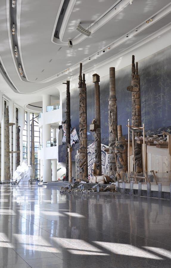 Канадский музей интерьера истории от Оттавы в Канаде стоковое изображение