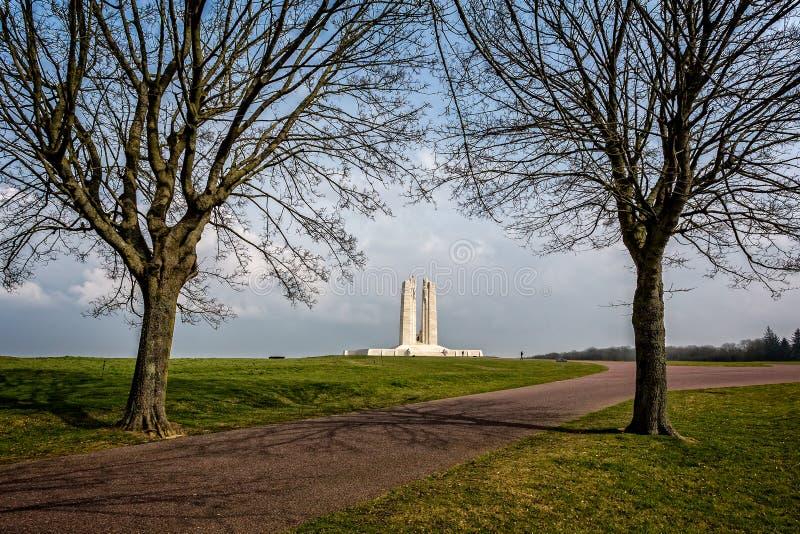 Канадский национальный аррас Vimy мемориальный близко, Франция стоковые изображения rf