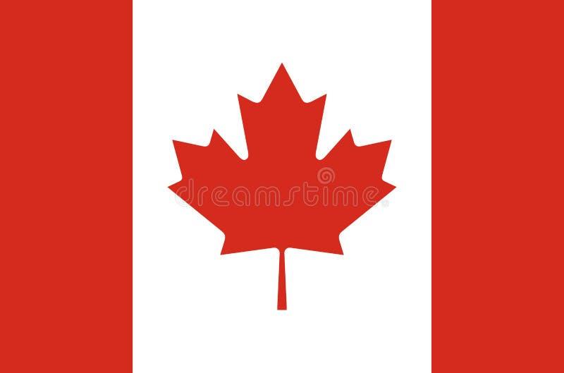 Канадский национальный флаг в точных цветах, официальный флаг Канады в точных цветах бесплатная иллюстрация