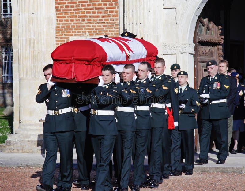 канадский похоронный воинский воин ww1 стоковые изображения