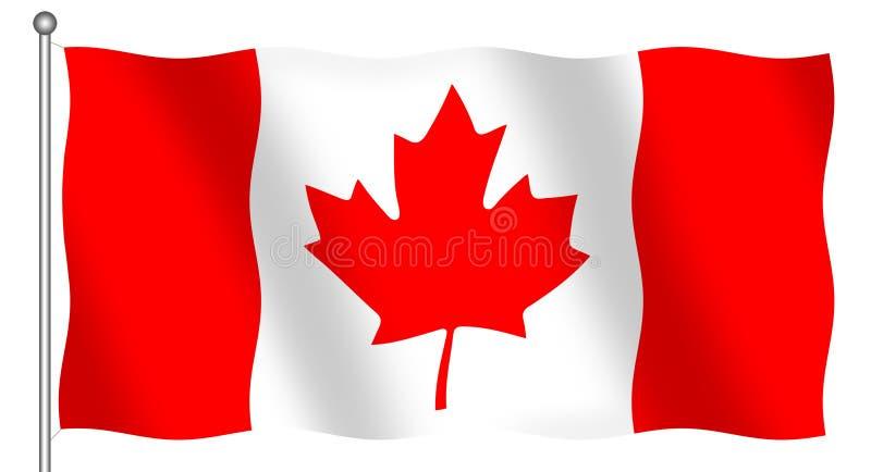 канадский флаг иллюстрация вектора
