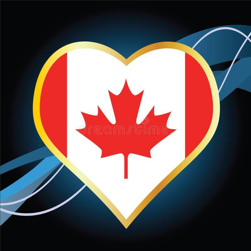 канадский флаг иллюстрация штока
