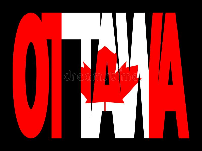 канадский флаг ottawa иллюстрация штока
