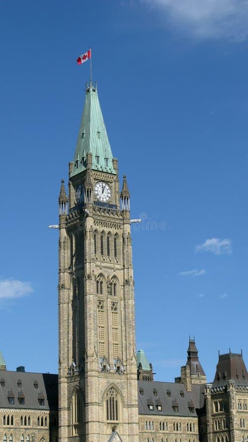 канадское parliement ottawa стоковые изображения