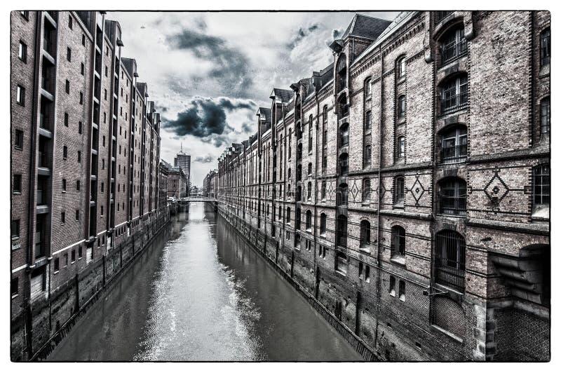 Каналы в Hamborg стоковые фотографии rf
