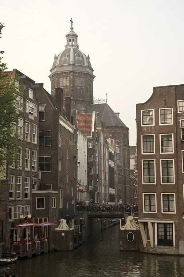 каналы amsterdam стоковые фото