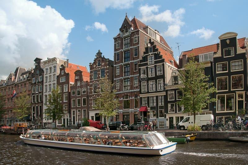 каналы amsterdam стоковая фотография rf