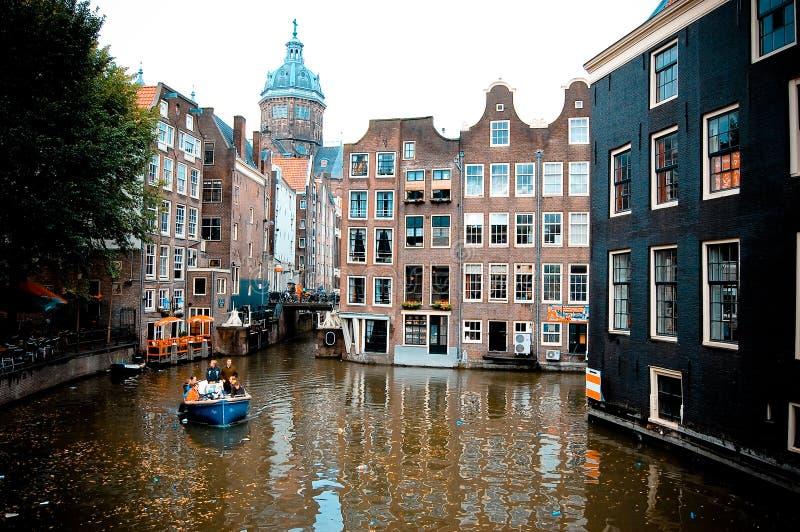 каналы amsterdam стоковые фотографии rf