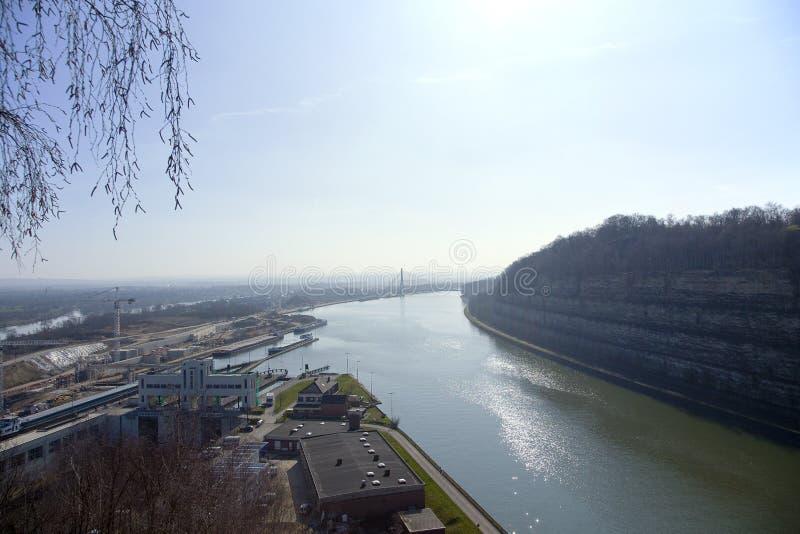 Канал Альберта на Ternaaien и Маастрихте стоковые фото