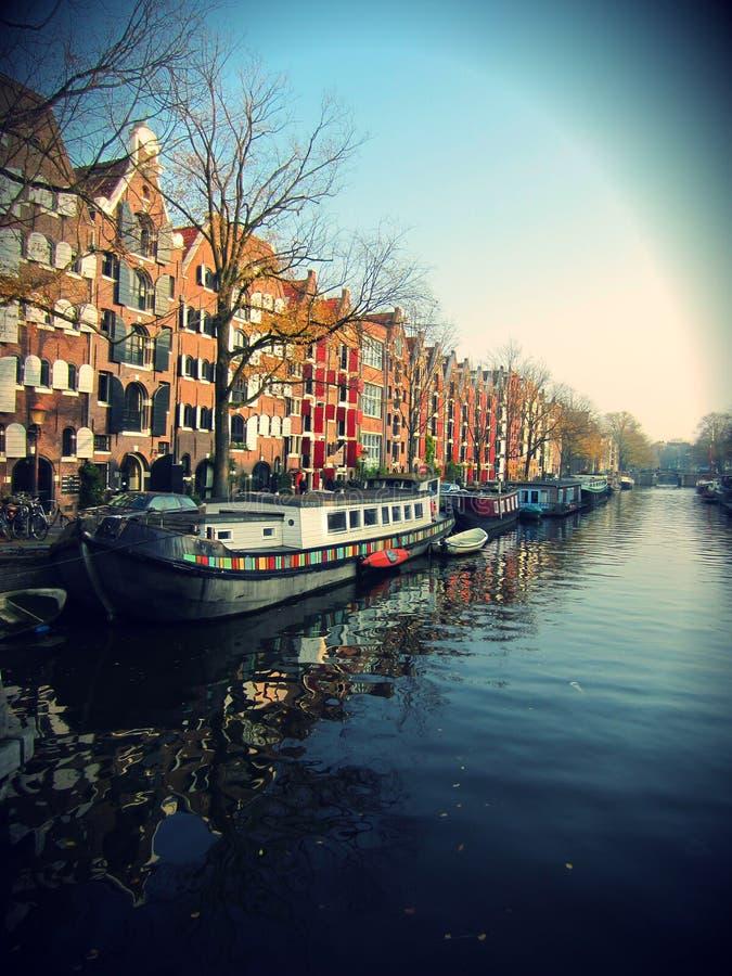 Канал Амстердам стоковые изображения