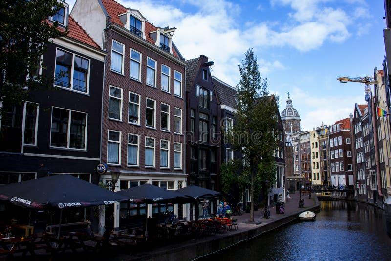 Канал в Амстердаме стоковое фото rf