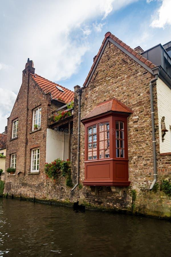 Канал в Брюгге, Бельгии стоковые изображения