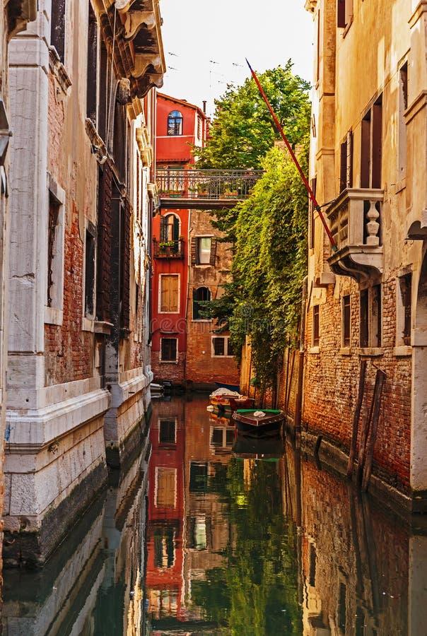 Канал в Венеции Италии стоковые изображения rf