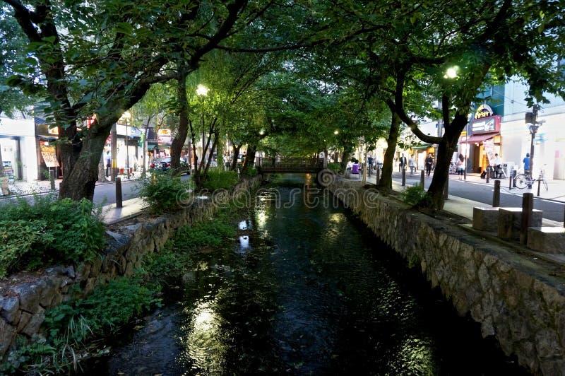 Канал в Киото стоковые изображения