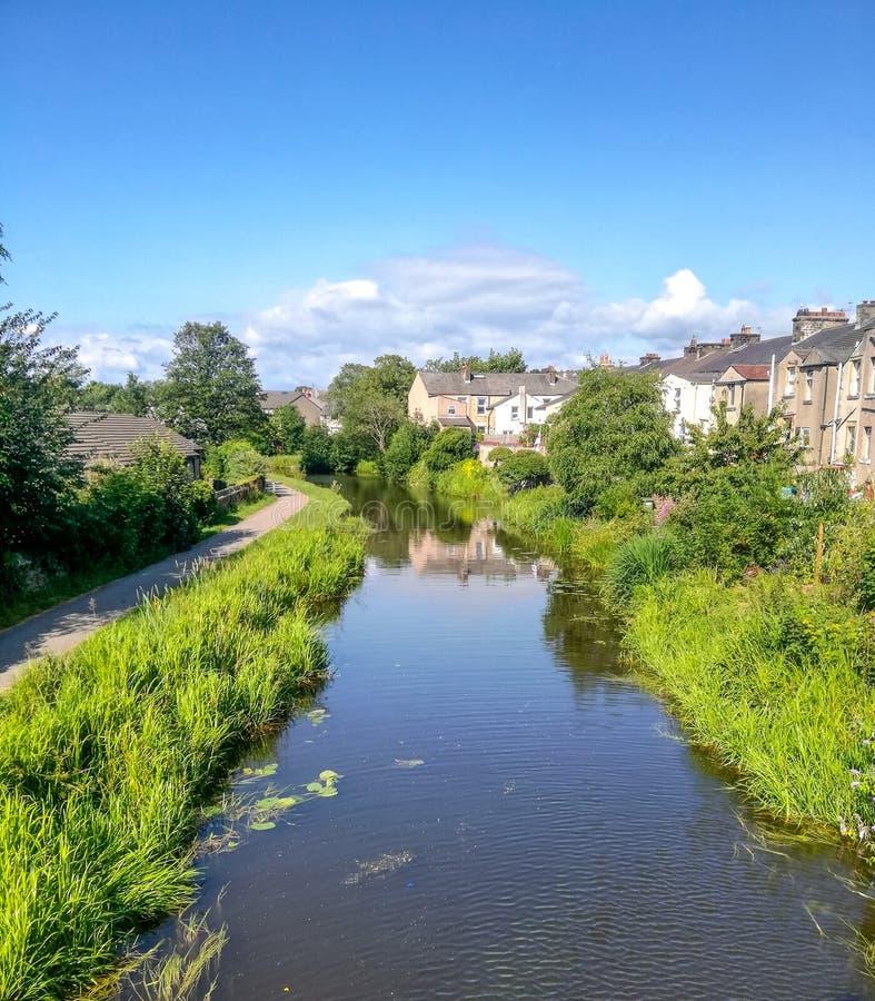 Канал в Ланкастере стоковое изображение rf