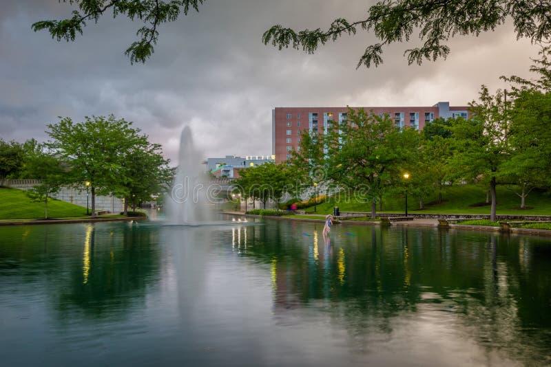Канал Индианы центральный в Индианаполис, Индиане стоковые фотографии rf
